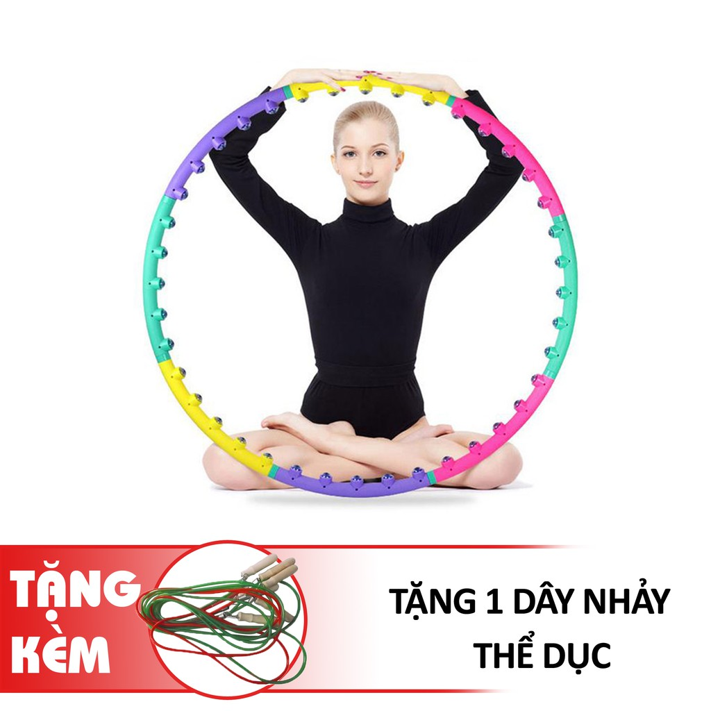 Vòng Lắc Bụng Lắc Eo Massage Tặng Dây Nhảy