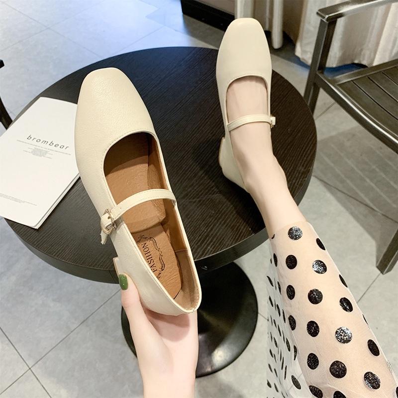 Giày Búp Bê Đế Mềm Xinh Xắn Phong Cách Retro Cho Nữ