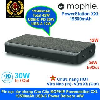 [Mã 159ELSALE hoàn 7% đơn 300K] Pin sạc dự phòng Macbook Air Cao Cấp MOPHIE Powerstation XXL 19500mAh USB-C PD 30W thumbnail