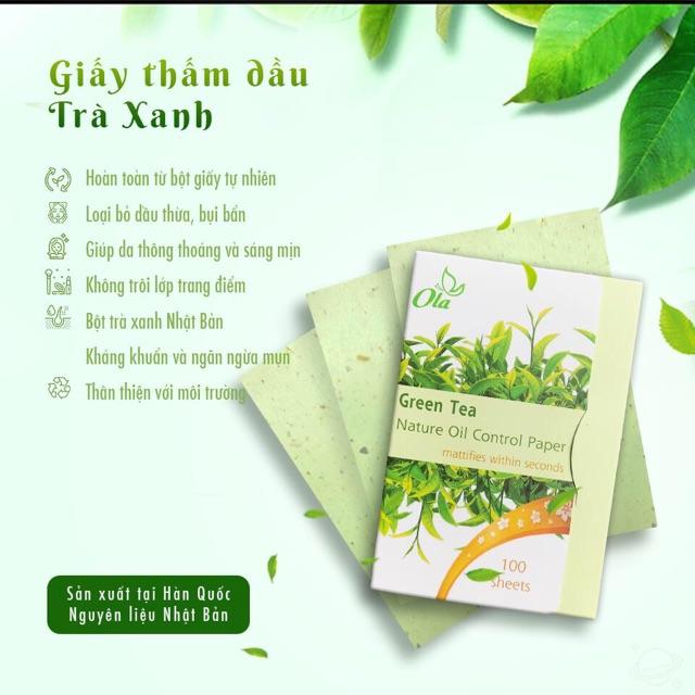 Giấy Thấm Dầu Ola Nature Oil ConTrol Paper Hàn Quốc 100pcs | Shopee Việt Nam