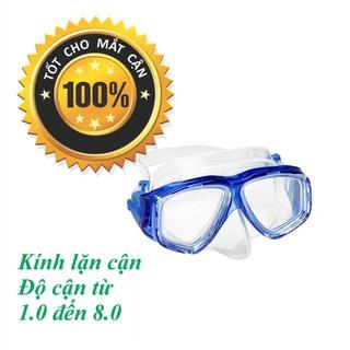 Mặt nạ lặn cận độ cận từ 1.5 độ đến 8.0 độ mắt KÍNH CƯỜNG LỰC POPO Collection