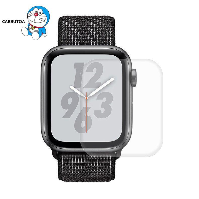 Kính Cường Lực Cong 3d Bảo Vệ Màn Hình Cho Apple Watch Series 5 / 4 44mm Trong Suốt