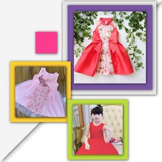 Đầm tết bé gái đầm tết cho bé [Sale bất chấp] đầm công chúa cho bé đầm công chúa bé gái