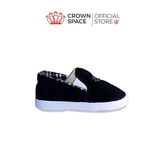 Giày Vải Tập Đi Bé Trai Bé Gái Đẹp Crown UK Royale Baby Cao Cấp 132_857 Size 3-6 cho bé 1-3 Tuổi
