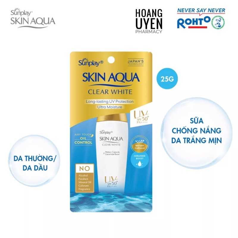 Chống nắng Sunplay skin aqua Clear White - 25gr & 55gr - 25gr