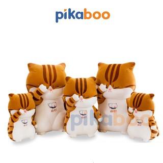 Mèo rửa mặt bông cao cấp Pikaboo. Gấu bông, thú nhồi bông- Chất liệu nhung Mềm - Mịn - An toàn. thumbnail