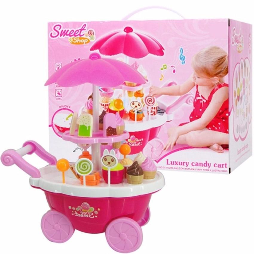 Bộ đồ chơi xe đẩy bánh kem 2 tầng có phát nhạc và đèn cho bé - 3392432 , 621225692 , 322_621225692 , 260000 , Bo-do-choi-xe-day-banh-kem-2-tang-co-phat-nhac-va-den-cho-be-322_621225692 , shopee.vn , Bộ đồ chơi xe đẩy bánh kem 2 tầng có phát nhạc và đèn cho bé