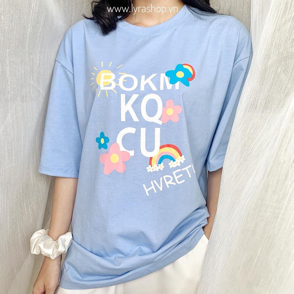 [Mã WA8815 giảm 15% đơn 50K] Áo phông hoa OKM