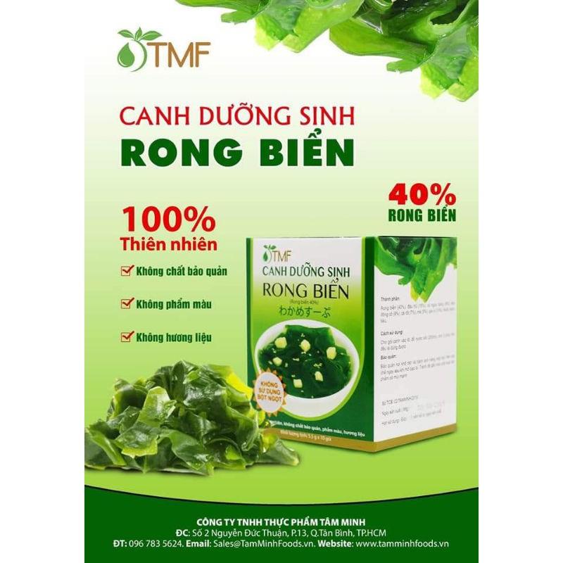 CANH RONG BIỂN ĂN LIỀN (10 gói / HỘP)- TÂM MINH FOODS