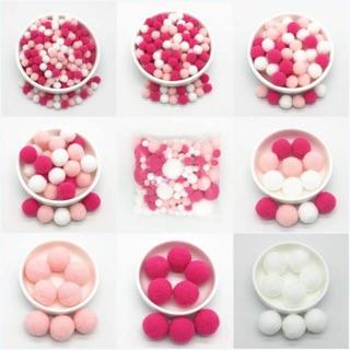 [ Cherry Blosssom ] 100 hạt pompom – pom pom làm slime – pom pom hỗn hợp – pompom trang trí túi itabag-pom pom nhiều màu