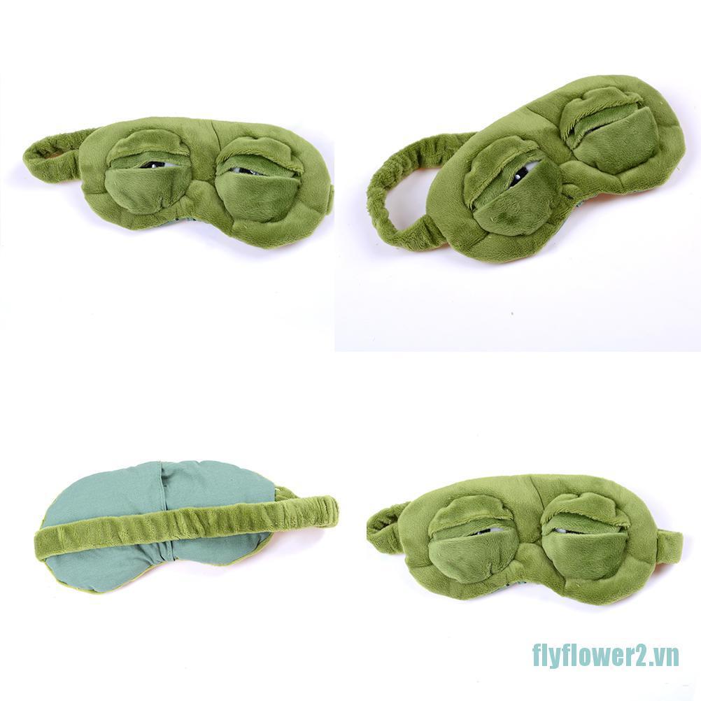 [toy] Frog Sad frog 3D Eye Mask Cover Sleeping Funny Rest Sleep Funny Gift