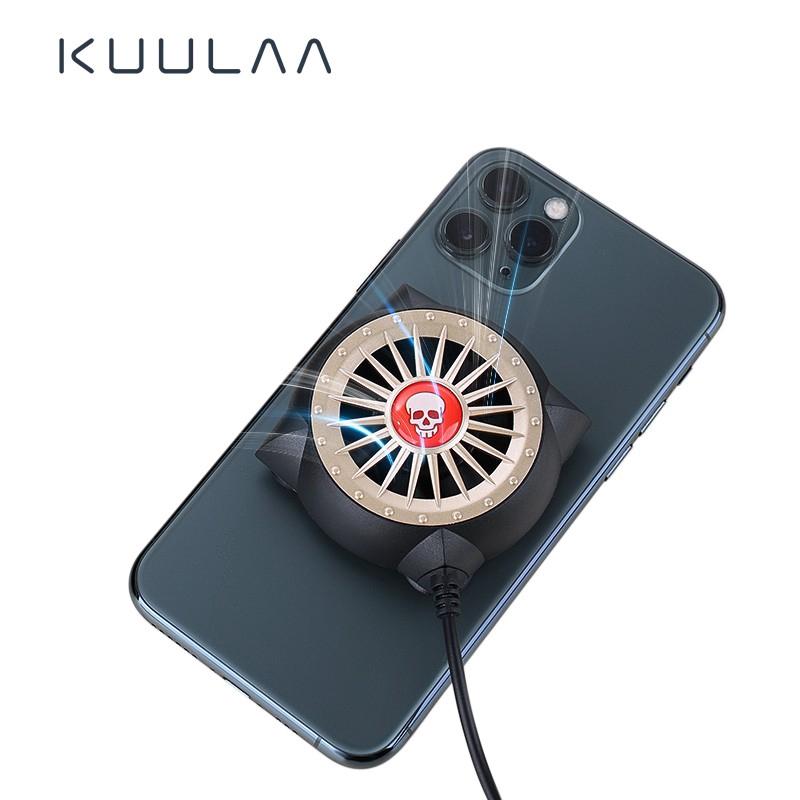 Quạt tản nhiệt KUULAA có đèn LED cho điện thoại Xiaomi iPhone Samsung