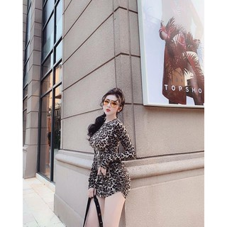 Váy body zúm họa tiết da beo. Hàng loại 1 chuẩn hình