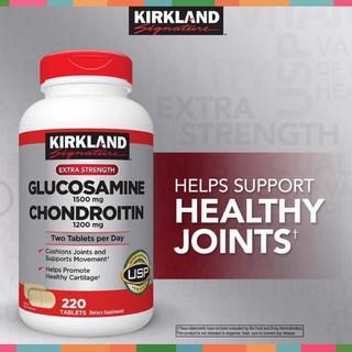 Viên uống Glucosamine 1500mg & chondroitin 1200mg 220 viên – Glucosamin Kirkland 220 [HÀNG MỸ]