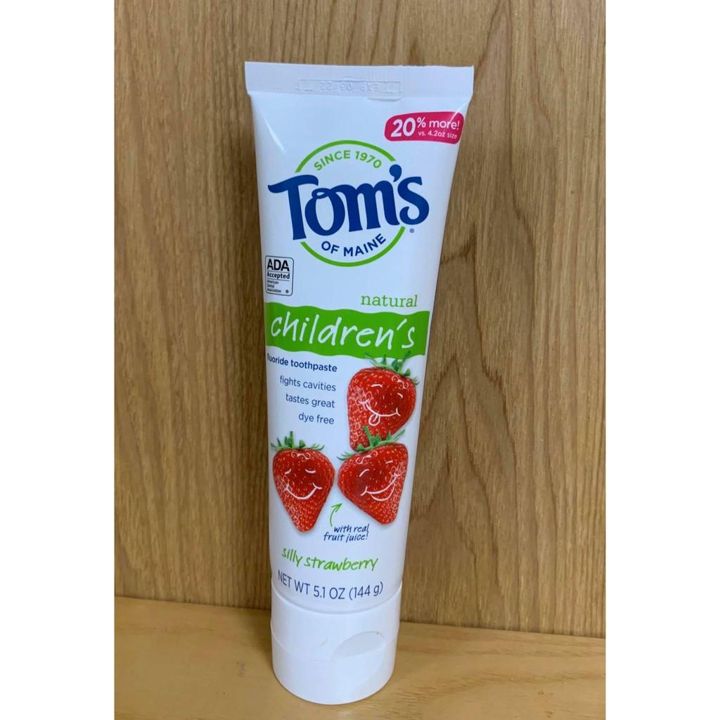 Kem đánh răng trẻ em Tom's of Maine 144g của Mỹ - Vị dâu và Bạc hà