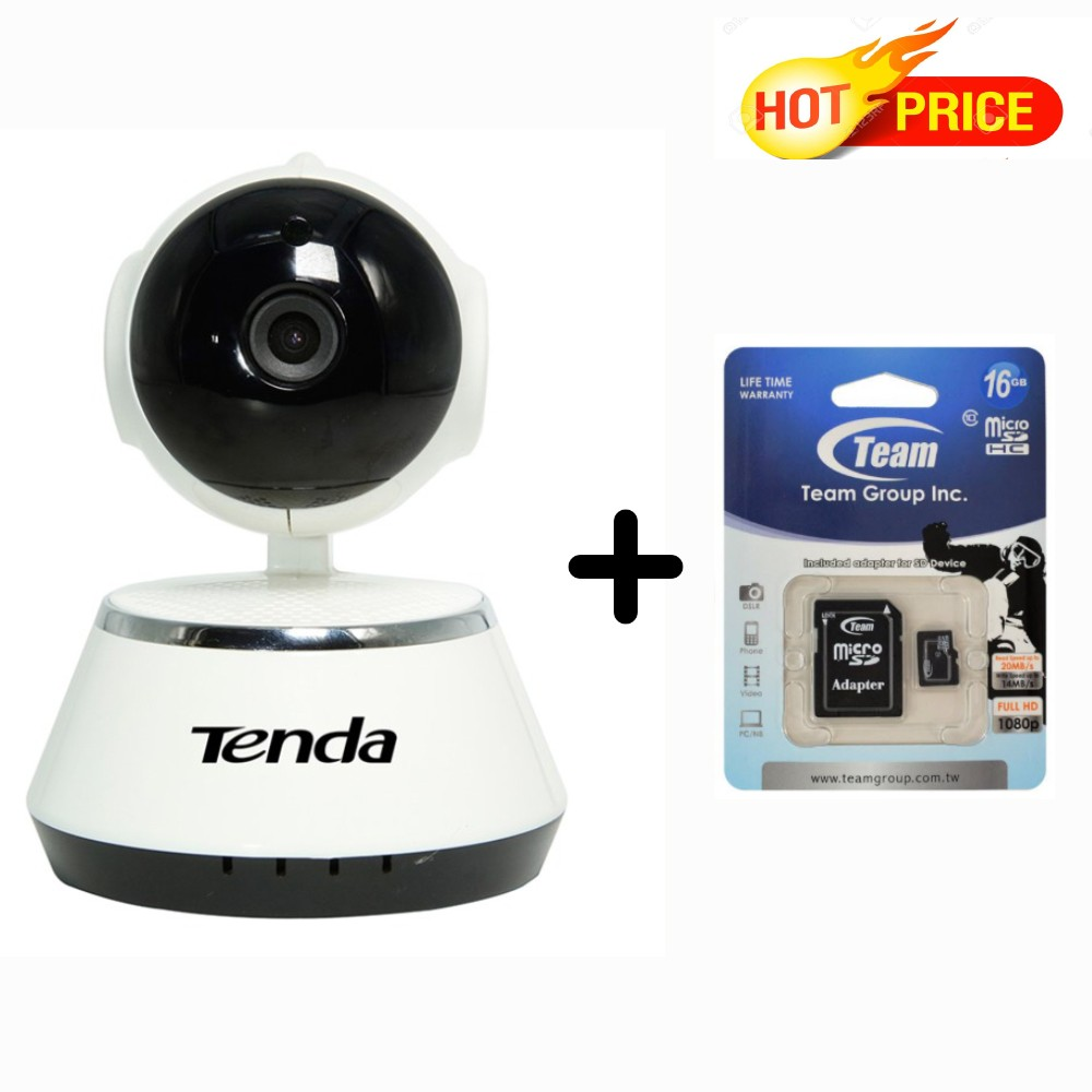 Camera Ip Tenda C50+ với thẻ nhớ Team 16G