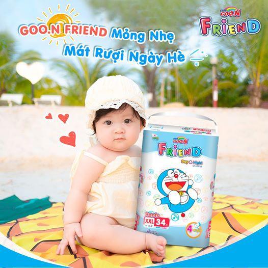 Tã Quần Goon Friend Doremon mẫu mới M54/L46/XL40/XXL34/XXXL22