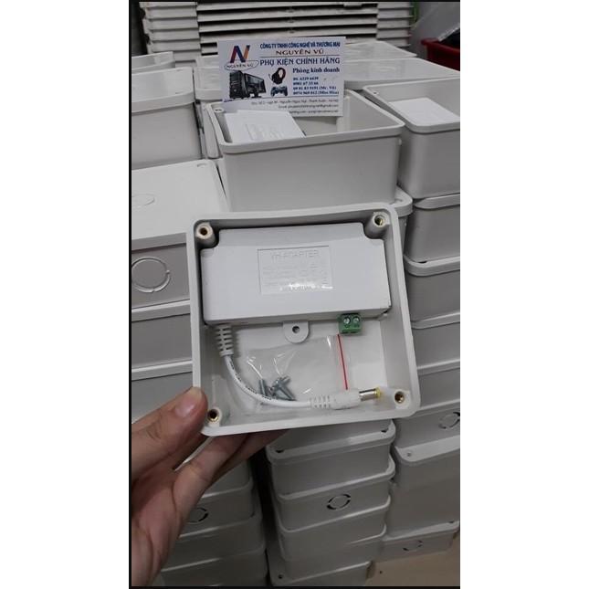 Nguồn 12V 2A (adapter 12v 2a) nguồn mới Kèm hộp nối, nguồn đúc màu trắng