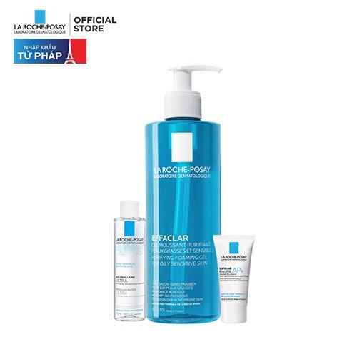 Bộ sản phẩm Gel rửa mặt làm sạch & giảm nhờn cho da dầu nhạy cảm La Roche-Posay 465ml