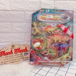 Bộ đồ chơi khủng long bằng nhựa