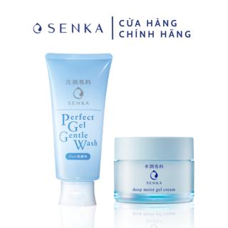 Bộ đôi Mặt nạ ngủ cấp ẩm chuyên sâu và Gel rửa mặt dịu nhẹ Senka (50g 100g)_95230