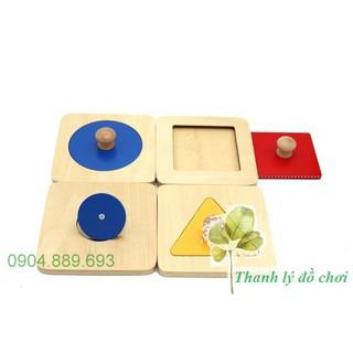 Bộ 4 hình cơ bản (loại rời) – Giáo cụ montessori 0-3 tuổi
