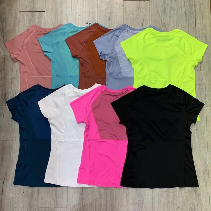 Mặc gì đẹp: Dẻo dai với Áo tập gym yoga nữ, áo cộc tay thể thao phối lưới chất thun lạnh, co giãn tốt