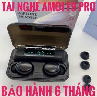 Tai Nghe Bluetooth Amoi F9 PRO Cảm Ứng - Tiếng Anh - Pin Siêu Trâu - Chống Nước - Kiêm Sạc Dự Phòng