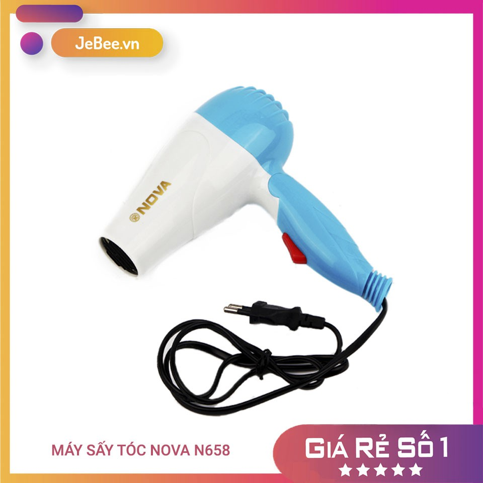 Máy sấy tóc Nova N658, máy sấy tóc mini đi du lịch, gọn nhẹ tiện lợi