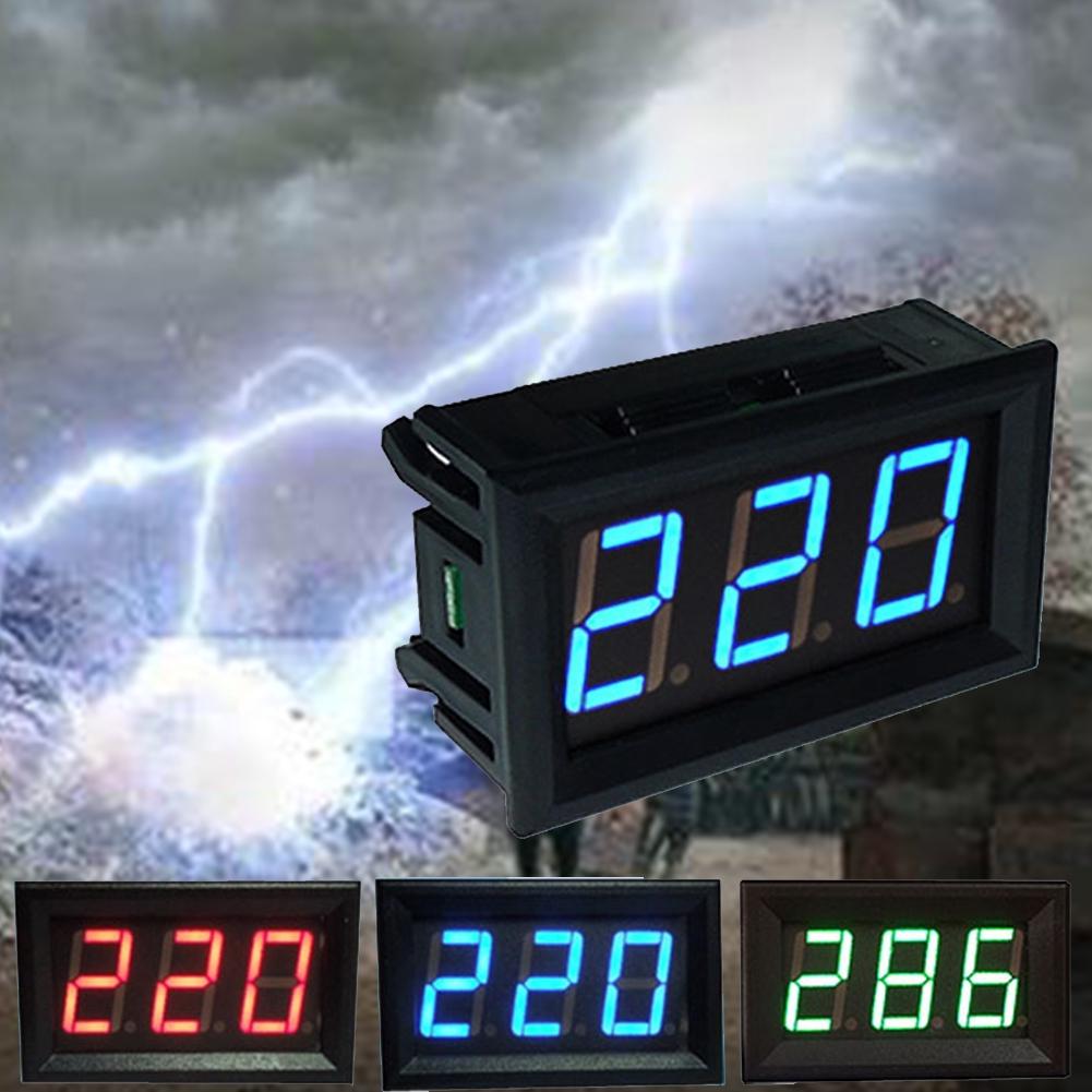 GJ Voltmeter Voltage Meter Panel Useful AC70V-500V LED Digital Display