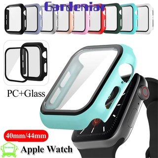 💜DLWLRMA💜 Ultra Thin Matte Hard PC Case Accessories Screen Protectors Tempered Glass New Frame 3D HD Watch Bumper Full Cover/Multicolor