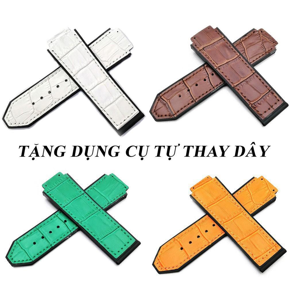 [TẶNG DỤNG CỤ THAY DÂY] Dây đồng hồ cao cấp Hulot 42mm dây da - dây cao su - dây da lộn