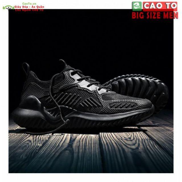 [FULL BOX] Giày Sneaker Thể Thao Nam Bigsize Năng Động Thời Thượng Cao Cấp Size 45,46,47,48,49 Đen