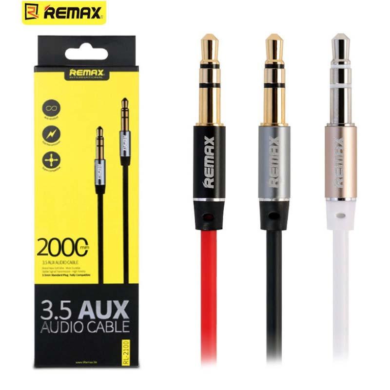 Jack audio 2 đầu 3.5 remax L200 2m