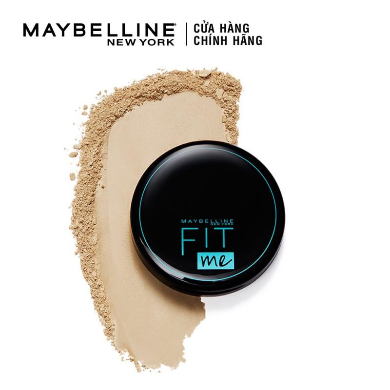 Phấn Nền Kiềm Dầu Chống Nắng 12H SPF28 PA+++ Mịn Lì Lâu Trôi Fit Me Maybelline New York  Compact Powder 6g