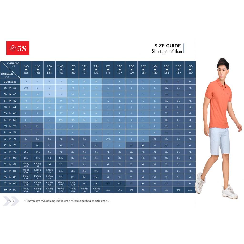Quần Đùi Nam 5S (4 màu) Vải Gió Mềm, Siêu Nhẹ, Dáng Thể Thao, Thiết Kế Trẻ Trung Năng Động (QSG001S1)