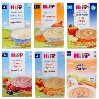 BỘT ĂN DẶM HIPP CHO TRẺ TỪ 4 THÁNG TUỔI CÁC VỊ