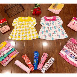 Váy thu đông ⚜FREESHIP⚜ váy thu đông cổ nơ xinh xắn cho bé gái
