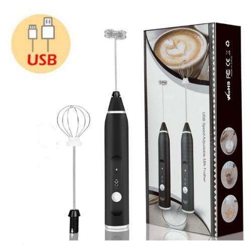 Máy tạo bọt sữa, đánh trứng có cổng sạc USB 2 đầu loại đầu khuấy cafe và đánh trứng (làm cà phê bọt)