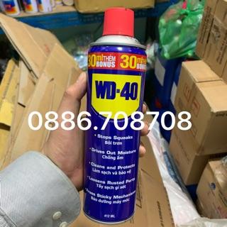 Chai xịt chống rỉ,chống ẩm bảo dưỡng Wd40 412ml(tăng giá bán)