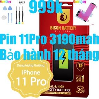 Pin iPhones 11 Pro Con Trâu Bison 3190mah chính hãng thumbnail