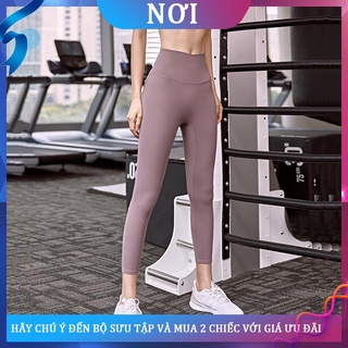 ﺴdcw cạp cao quần thể dục nâng hông của phụ nữ khỏa thân cho cảm giác bó sát yoga squat mặc ngoài chạy bộ bảy tám điểm m
