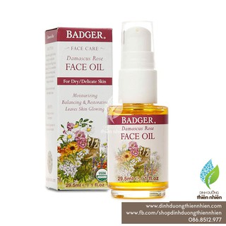 Dầu Dưỡng Da Badger Face Oil Damascus Rose, 30ml thumbnail