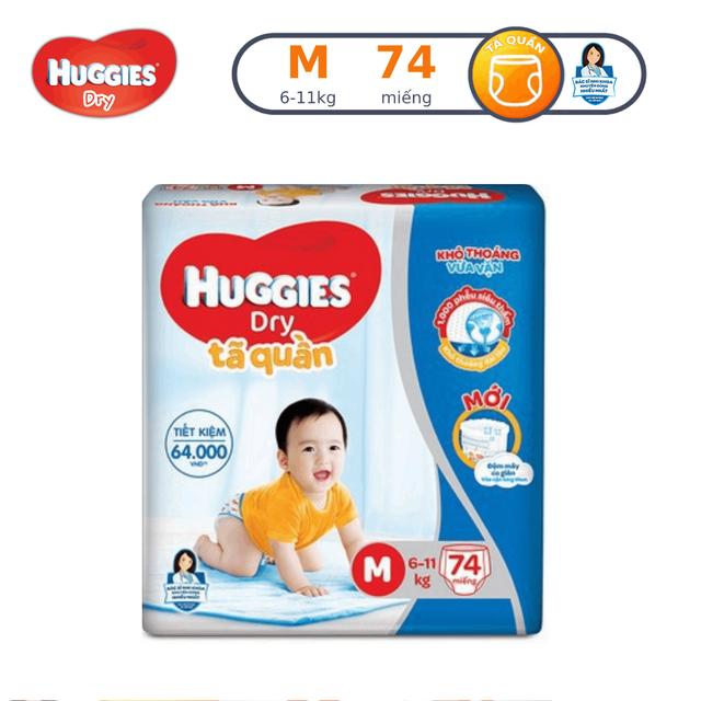 Tã quần Huggies Pant Super Jumbo M74/L68/XL62/XXL56
