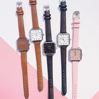 (Giá sỉ) Đồng hồ thời trang nữ Candycat dây da mặt vuông T48