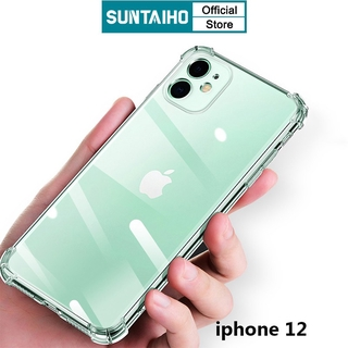 Ốp lưng trong suốt chống sốc hiệu SUNTAIHO cho iphone 12 Pro 11Pro max 7Plus 8 Plus iphone 6 6s plus