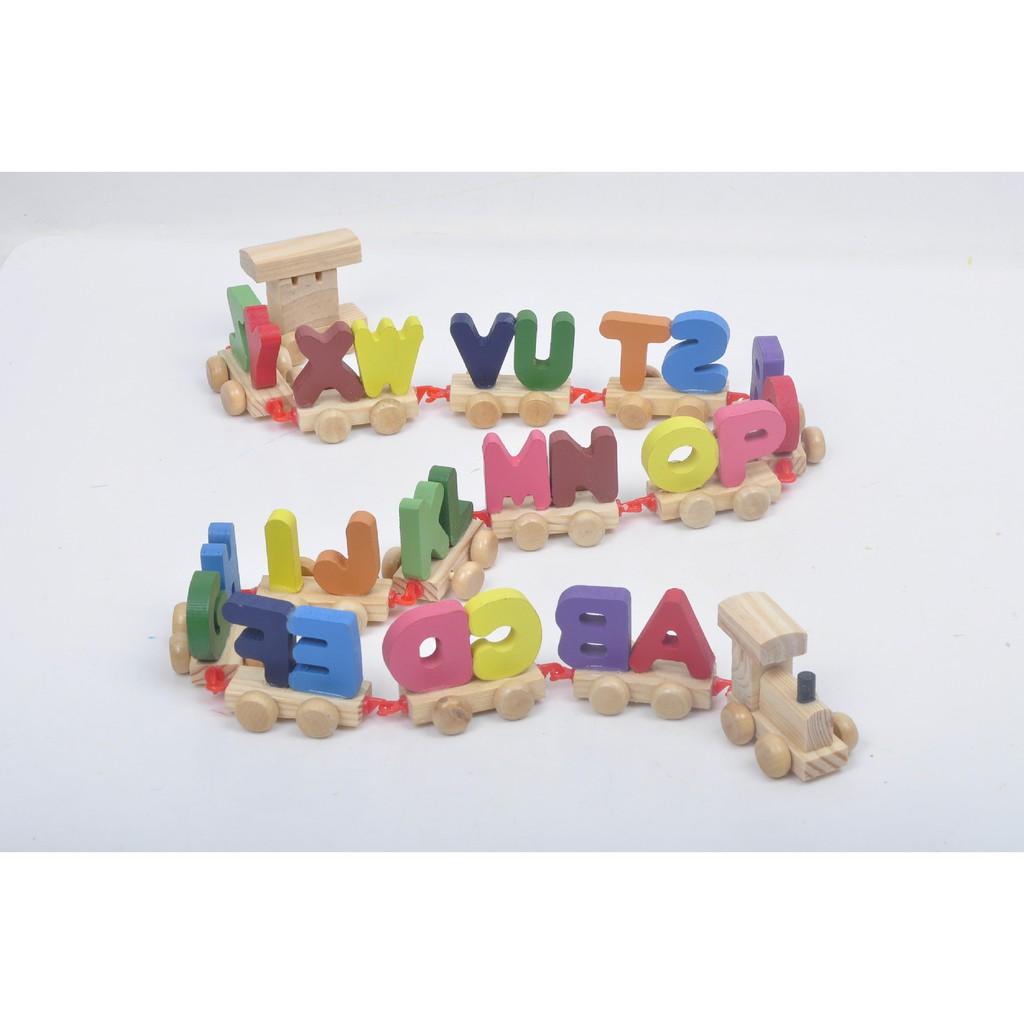 Đồ chơi xe lửa 26 chữ cái cho bé vừa học vừa chơi