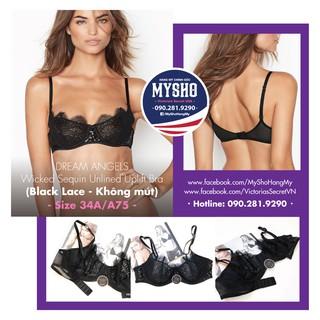[34A A75] Áo lót Black Lace - Không mút, kiểu dáng sexy và gợ thumbnail
