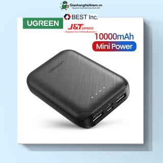 Sạc dự phòng 10000mAh mini UGREEN Dung lượng thực 10000mAh Sạc nhanh cho iPhone, VIVO OPPO, Samsung, Xiaomi, Redmi