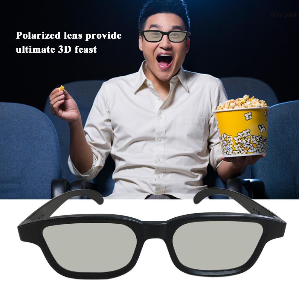 H&G G90 Passive 3D Glasses Polarized Lenses for Cinema Lightweight Portable for Watching Movies